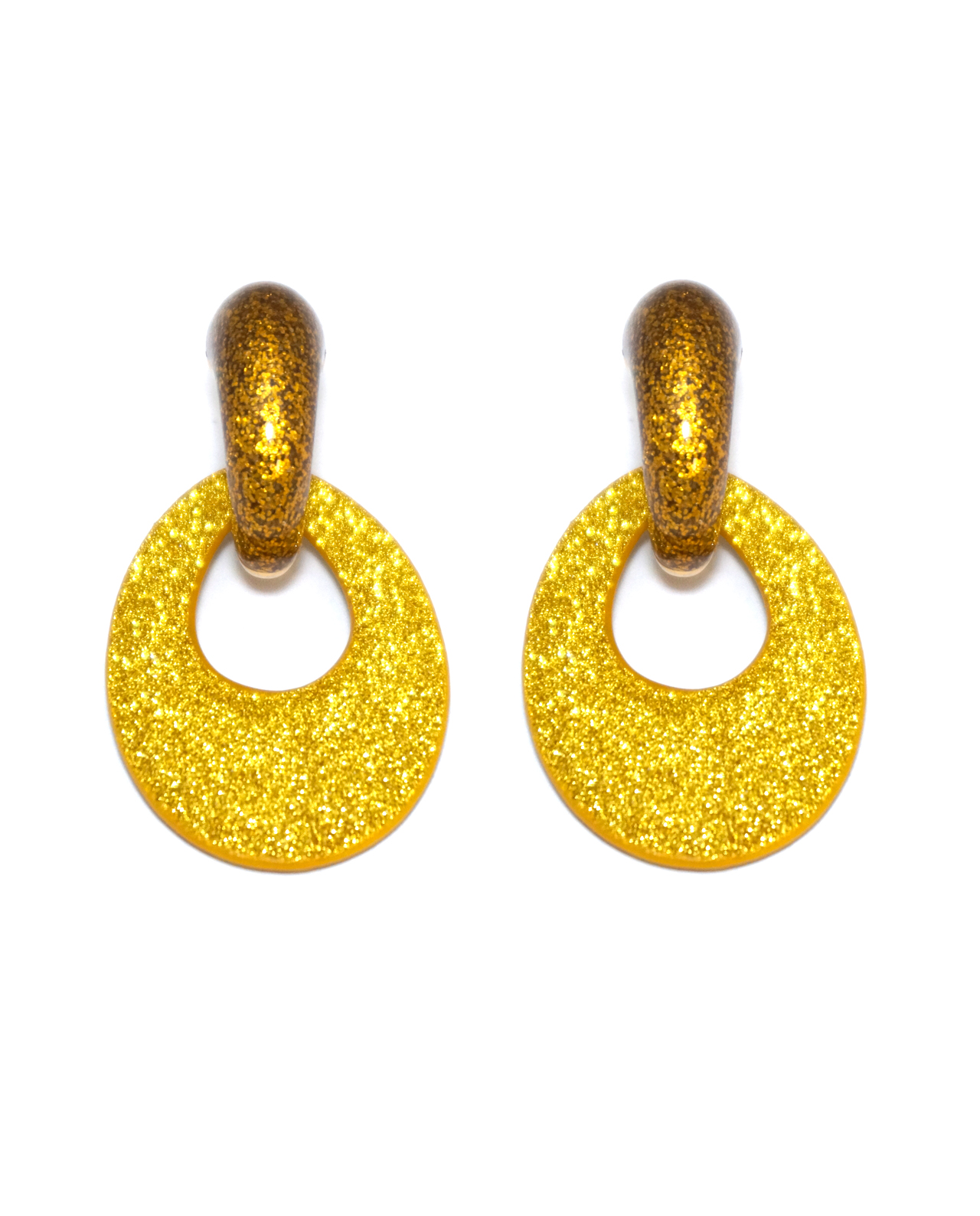 gold product enamel isthatajeni shiny aqua earring pyramid post
